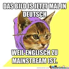 Hipster Cat Meme - hipster cat in german by recyclebin meme center
