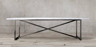 marble base table l rectangular table collections restoration hardware m j