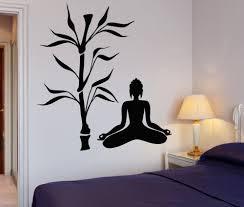 buddha tree blossom yoga vinyl wall decal buddhism sit in
