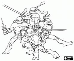 coloring ninja turtles leonardo michelangelo