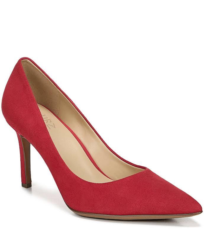 Naturalizer Anna Heels Red- Womens