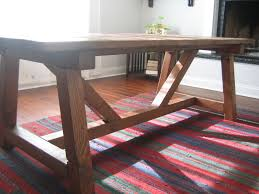 Custom Made Dining Room Furniture with Hand Made Trestle Farmhouse Table Reclaimed Wood Farmhouse