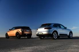 porsche macan size porsche macan vs range rover evoque auto express