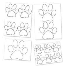 paw print template printable paw print templates free for personal arts and crafts