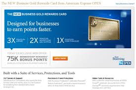 Business Gold Rewards Card From American Express 75 000 Membership Rewards Points For Amex New Business Gold