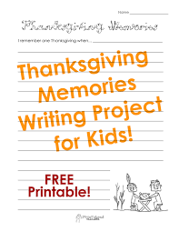 thanksgiving memories writing project for squarehead teachers