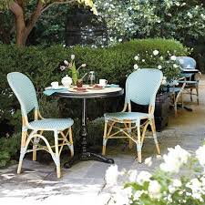 Garden Bistro Chair Cushions Outdoor Bistro Chairs Dining In The Garden Artisan Crafted Iron