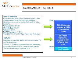 Financial Warranty Letter warranty indemnity insurance for financial sponsors