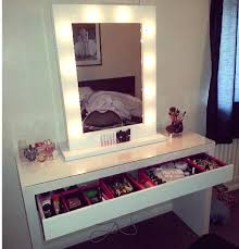 ikea makeup vanity hack dressing table mirror with lights ikea makeup desk and my version