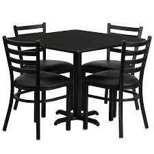 Restaurant Dining Room Tables Amazon Com Flash Furniture 36 U0027 U0027 Square Black Laminate Table Set