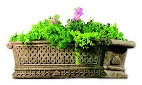 water trough planter urns pots u0026 planters aluminum cast stone limestone