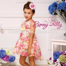 girls puffy dresses for kids latest dress designs floral chiffon