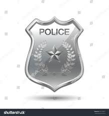 police badge isolated on white background stock vector 261735257