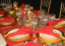 Thanksgiving Table Decor Ideas by Cute Kitchen Dining Thanksgiving Table Decorations With Red Color