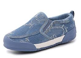 Comfortable Canvas Sneakers Amazon Com Iduoduo Kids Classic Denim Canvas Shoes Comfortable