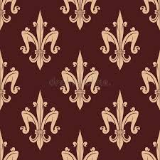 what is floral pattern in french medieval beige fleur de lis floral pattern stock vector