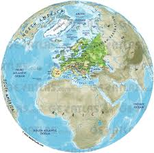 Physical Europe Map by Geoatlas Globes Europe Map City Illustrator Fully Modifiable