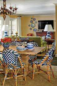 kitchen dining room a classic blue and white pattern inspired this amazing kitchen
