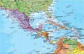 Map De Central America by Political World Map Pacific Centered With Flags Political World