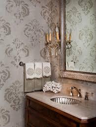 bathroom wall stencil ideas stenciling walls ideas bathroom traditional with silver sink lever