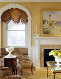 arched window treatments arched balloon valance with bells fancy