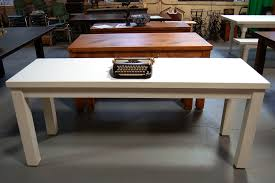 white parsons table desk custom set furniture