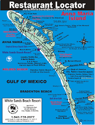Florida Map Of Beaches by Anna Maria Island Florida Restaurant Map Anna Maria Island Fl