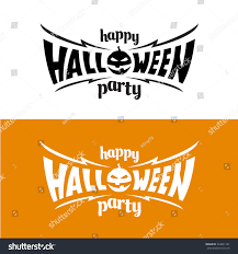happy halloween party title logo template stock vector 324031181