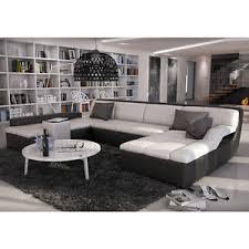sofa ecke ecksofa sofa u form sofaecke kunstleder schwarz weiß guevara