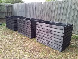 Black Planter Boxes by Extra Large Planter Boxes Stained In Black Made To Order