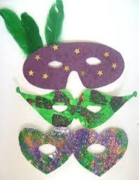green mardi gras mask mardi gras crafts