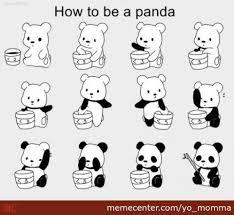 Memes De Pandas - how to become a panda by yo momma meme center