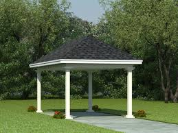 Car Port Plans Carport Plans 1 Car Carport Plan With Support Posts 006g 0002