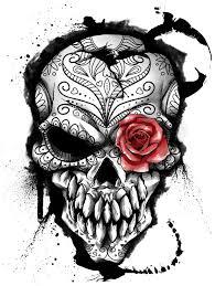 the 25 best sugar skull drawings ideas on