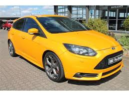 ford focus st yellow 2014 ford focus st 2 0 ecoboost st3 yellow with 68109km available