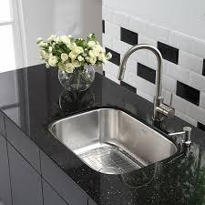 Stainless Kitchen Sink by Kraus Kbu12 23 Inch Undermount Single Bowl 16 Gauge Stainless