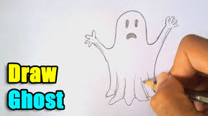 how to draw a ghost for halloween youtube