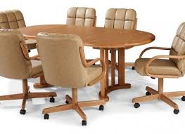 Kitchen Table With Swivel Chairs Chairs With Rollers Kitchen - Dining room chairs with rollers
