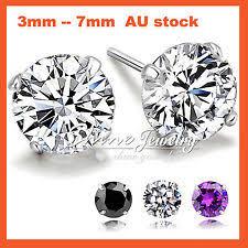 diamond studs for men diamond earrings studs for men ebay