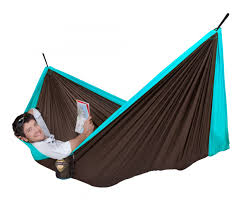 colbri double travel hammock blue