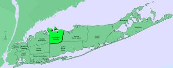 Suffolk County Map Geographical Boundaries Huntington Township