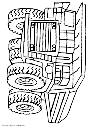 super big dump trucks coloring pages