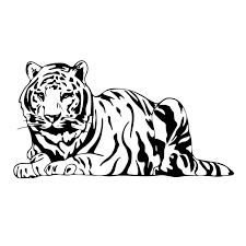 bengal tiger graphics design svg dxf eps by vectordesign on zibbet