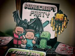 Minecraft Invitation Cards Uniquely Grace Minecraft 3d Box Birthday Party Invitations