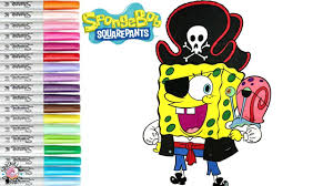 spongebob squarepants halloween coloring book pirate