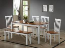 White Kitchen Table Set Plain Fine Kitchen Table With Bench And Chairs White Painted Table