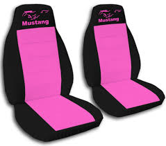 2010 mustang seat covers amazon com 2 black and pink mustang seat covers for a 2012