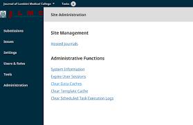 administration menu on left menu bar throws 404 error ojs 3 1