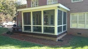 flat roof screened porch in charlotte nc screened porches photo