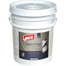 lanco wall prep 5 gal acrylic latex ultra white interior exterior